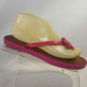 Coach LINDY Size 8 Pink Flip Flops Shoes For Women